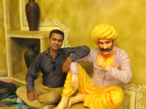 Hamza with Statue at Chokhi Dhani